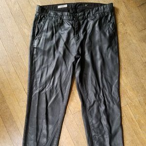 AG ADRIANO GOLDSCHMIED coated TRISTAN TROUSER 28R